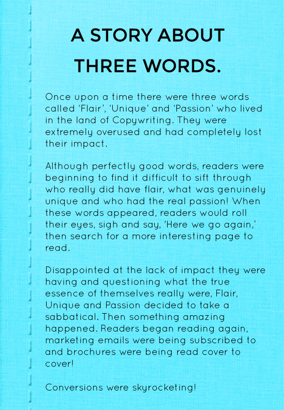 SL Copywriter book image story of three words